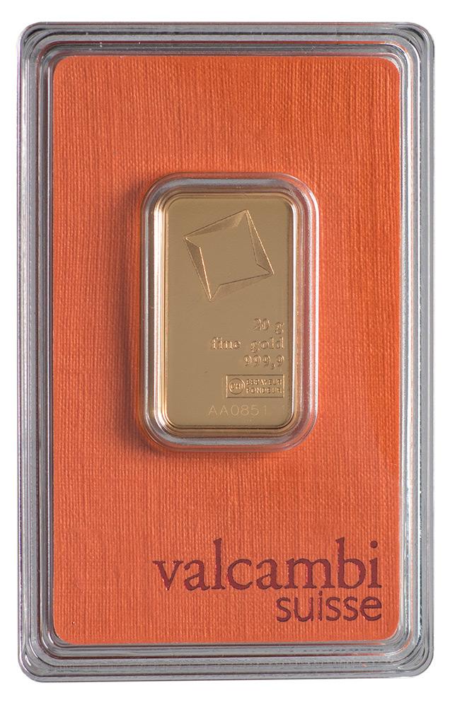 Złota sztabka Valcambi (20 g)