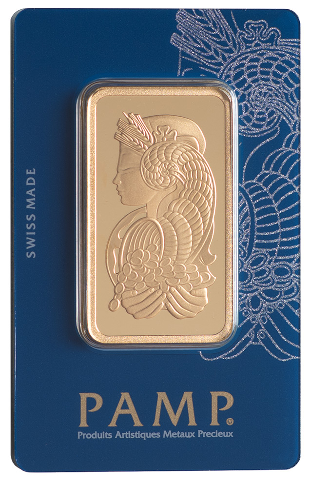 Złota sztabka PAMP Fortuna (50 g)