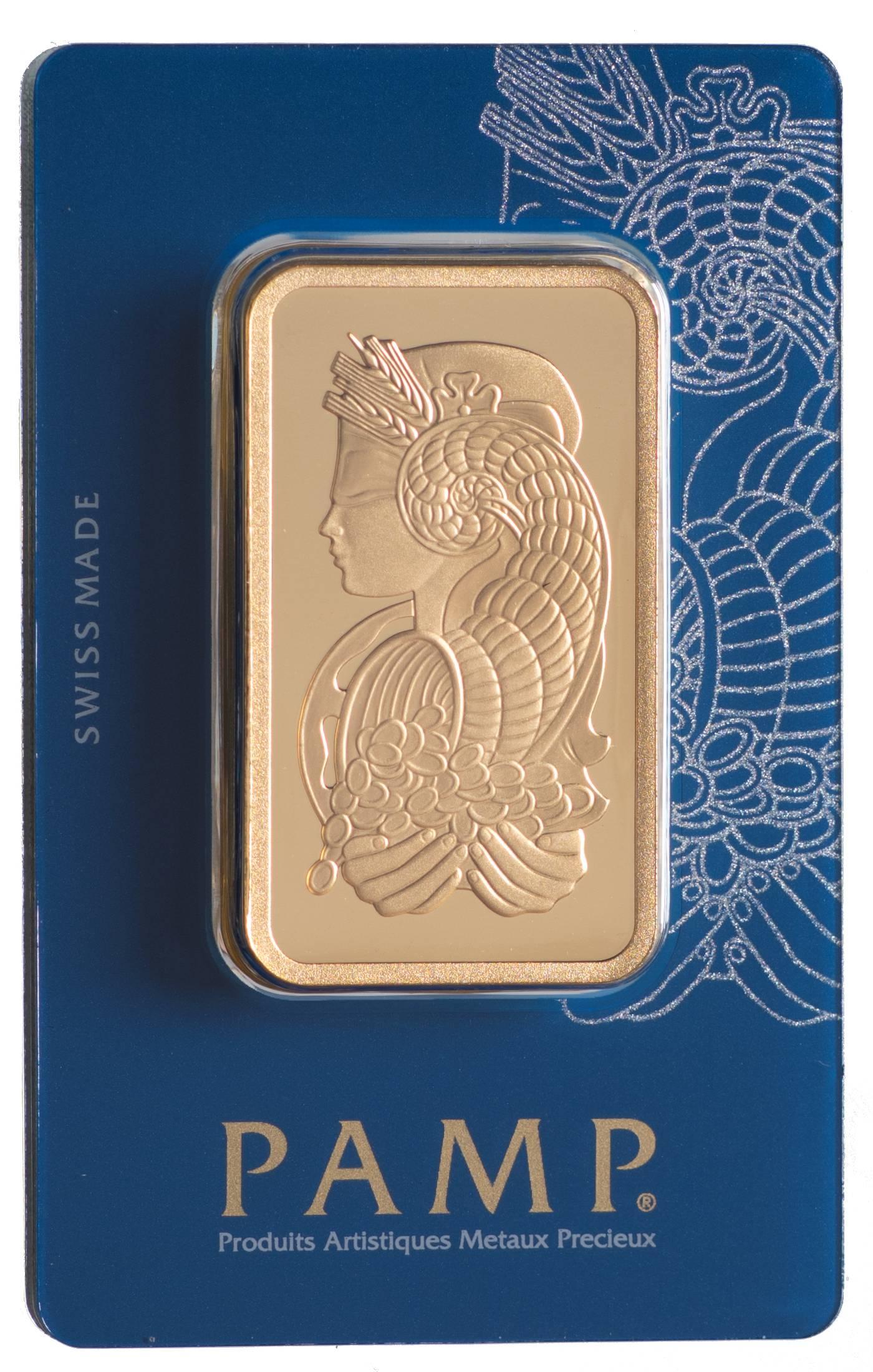Złota sztabka PAMP Fortuna (100 g)
