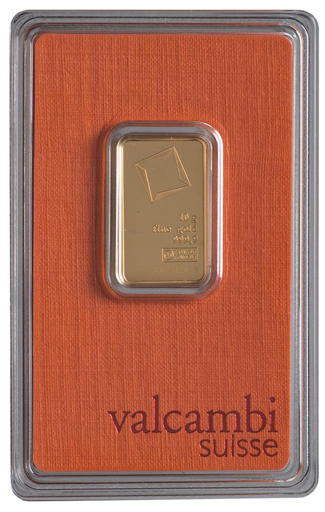 Złota sztabka Valcambi (10 g)