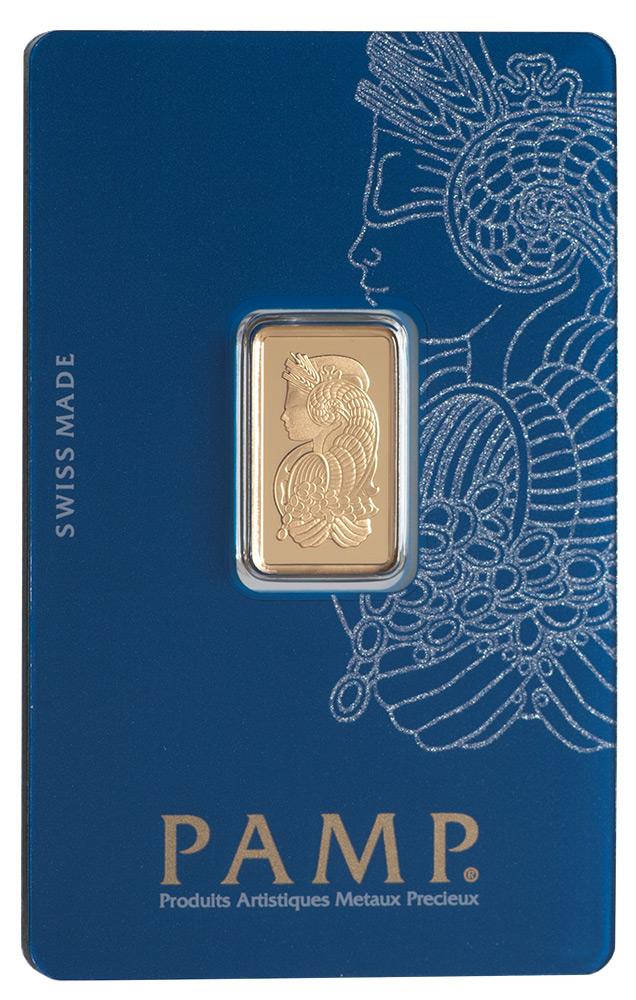 Złota sztabka PAMP Fortuna (5 g)