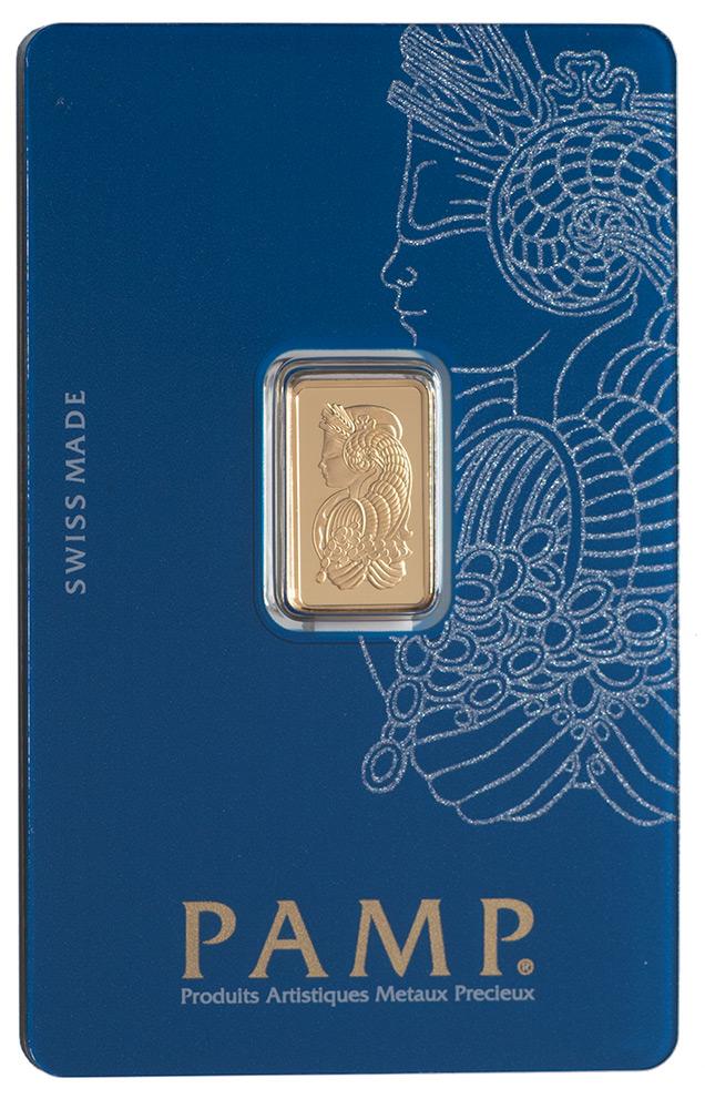 Złota sztabka PAMP Fortuna (2,5 g)