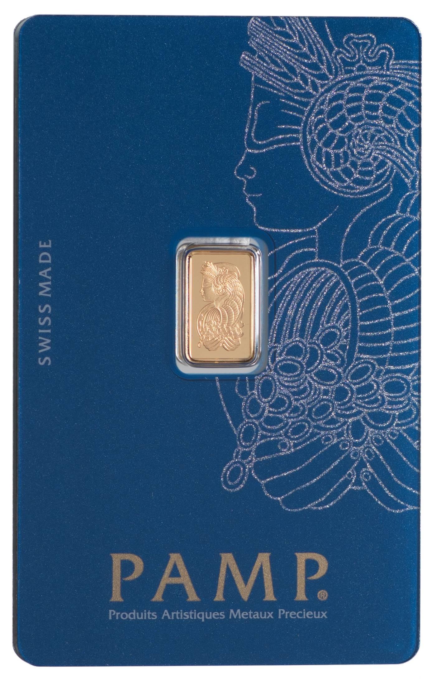 Złota sztabka PAMP Fortuna (1 g)