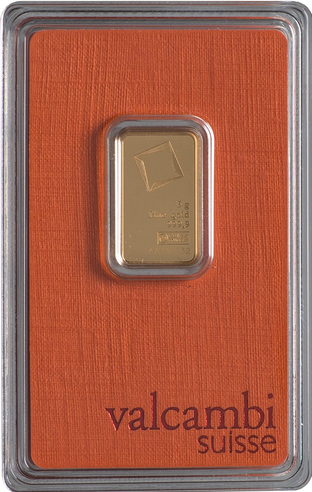 Złota sztabka Valcambi (5 g)
