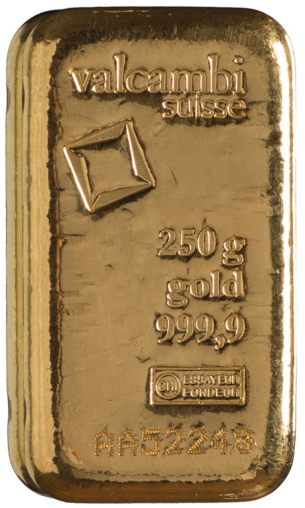 Złota sztabka Valcambi (250 g)